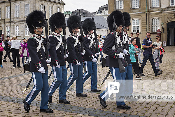 Denmark  Copenaghen  Amalienborg Palace  Changing of the guard