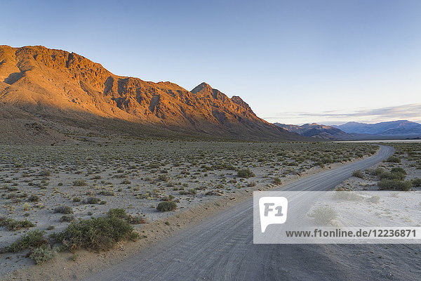 USA  California  Empty road in Death Valley National Park