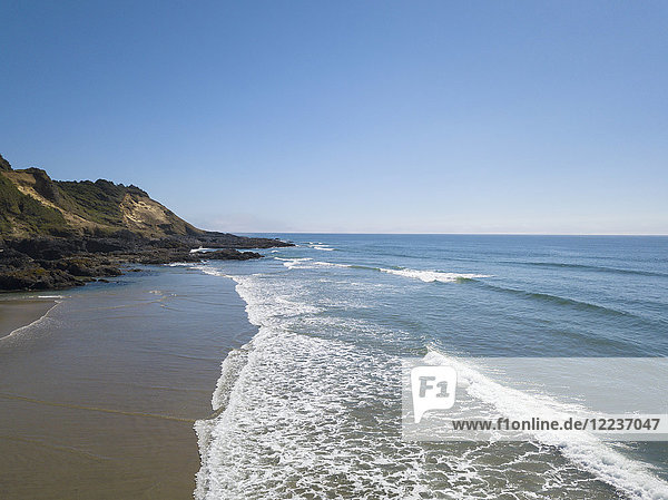 USA  Oregon  Headland  Scenic view of Ocean and blue sky