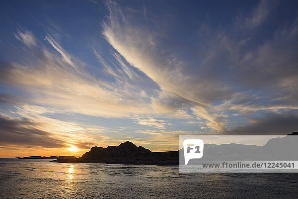 Sunset over the Inner Hebrides  from Scarba looking towards Lunga  Scotland  United Kingdom  Europe