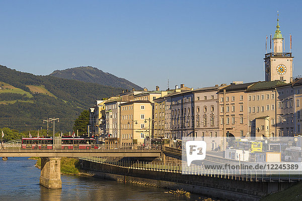 View of Salzach River and the Altstadt (The Old City)  UNESCO World Heritage Site  Salzburg  Austria  Europe