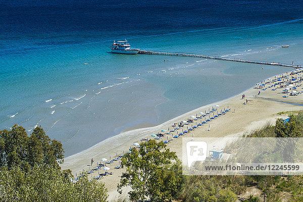 View over Apraos Beach  northern Corfu  Ionian islands  Greek Islands  Greece  Europe