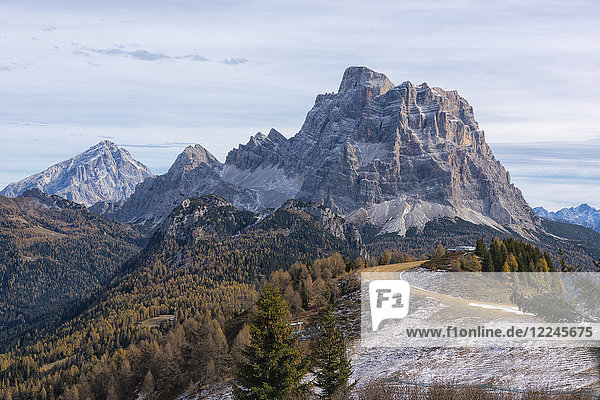 Pelmo and Antelao in autumn  Dolomites  Veneto  Italy  Europe