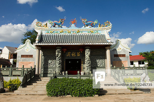 Chinese Buddhist temple  Vientiane  Laos  Indochina  Southeast Asia  Asia