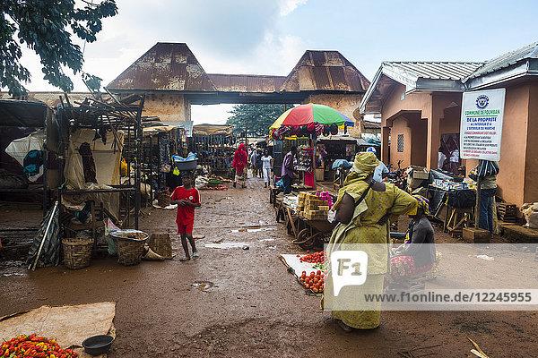Market in Foumban  Cameroon  Africa