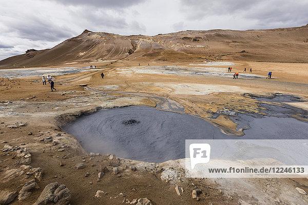 Hverarondor Hverir mud pots  steam vents  and sulphur deposits on the north coast of Iceland  Polar Regions