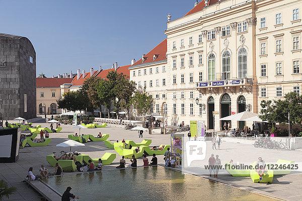 MuseumsQuartier with Museum of Modern Art Ludwig Foundation (MUMOK)  Vienna  Austria  Europe