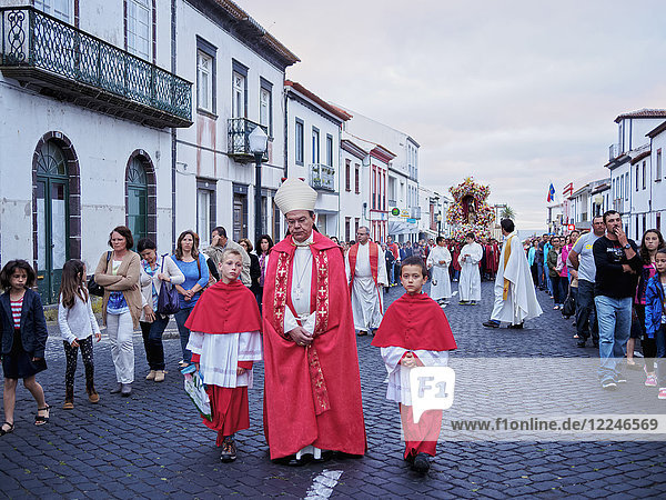 Holy Christ Procession  Vila do Porto  Santa Maria Island  Azores  Portugal  Atlantic  Europe