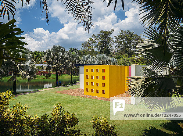 Inhotim Institute  a museum and contemporary art museum as well as a botanic garden located in Brumadhino  Minas Gerais  Brazil  South America
