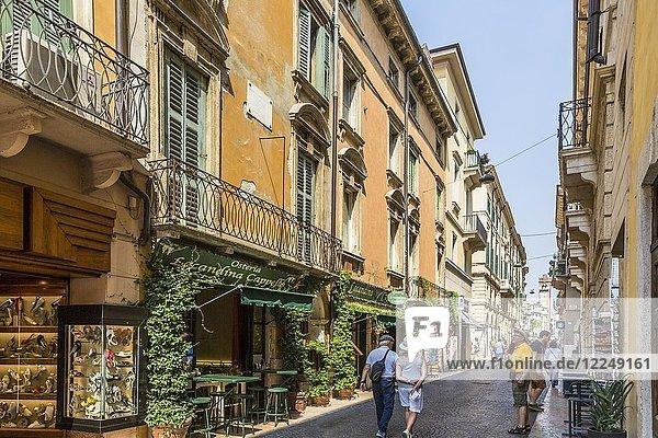Renaissance Architektur in der Altstadt  Via Cappello  Verona  Venetien  Italien  Europa