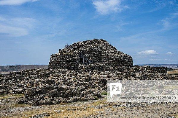 Unesco Weltkulturerbe  Su Nuraxi  nuragische archäologische Stätte in Barumini  Sardinien  Italien  Europa