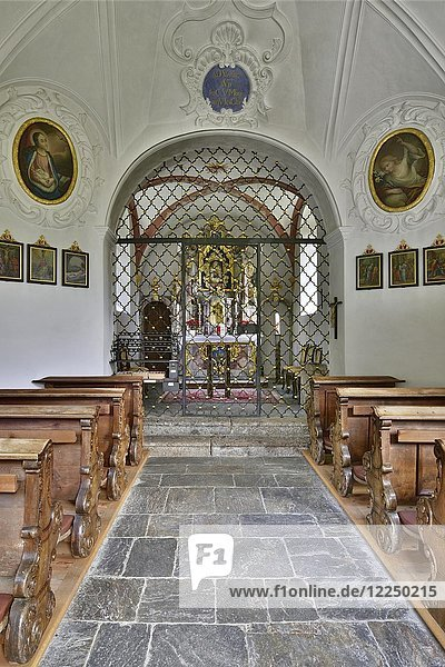 Pilgrimage church Maria Larch  interior view  Terfens  Tyrol  Austria  Europe