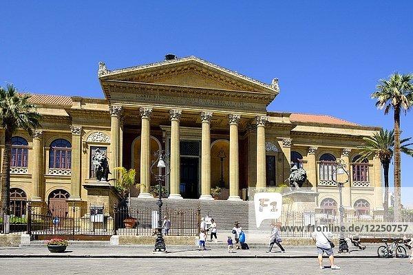 Opernhaus Teatro Massimo  Palermo  Sizilien  Italien  Europa