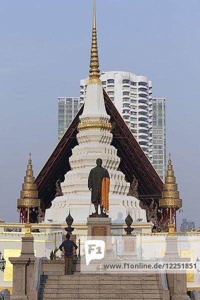 Chedi des Wat Yannawa  buddhistische Tempelanlage  Geschäftsviertel Sathon  Bangkok  Thailand  Asien
