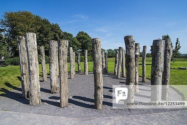 Neolithisches Ganggrab  Grabstätte  Knowth  Unesco Weltkulturerbe  Bru na Boinne  Donore  County Meath  Irland  Europa
