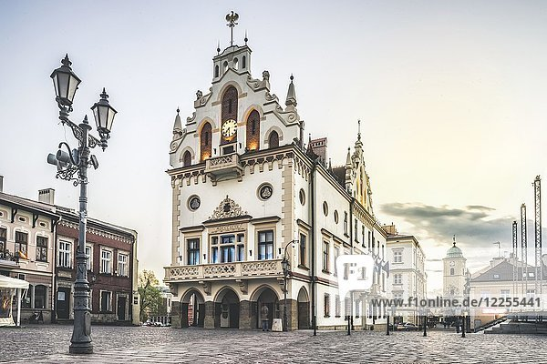 Historic city hall in the center  Rzeszow  Podkarpackie  Poland  Europe