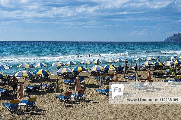 Strand von Agios Gordios  Korfu  Ionische Inseln  Griechenland  Europa