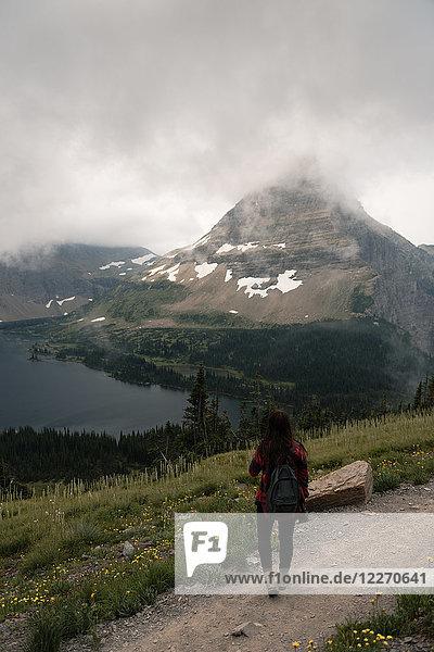 Hidden lake  Glacier National Park  Montana  USA