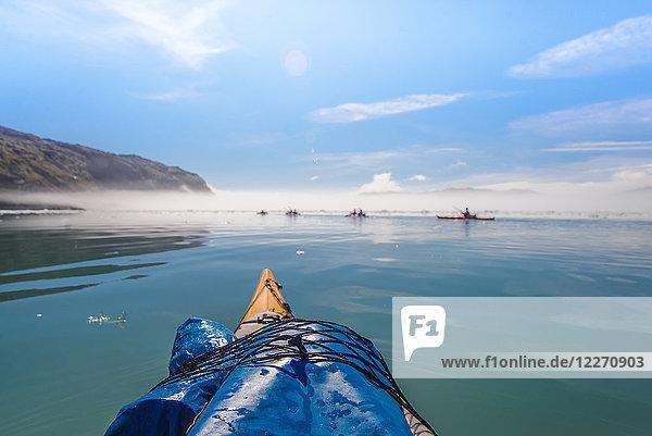Menschengruppe Seekajak  Narsaq  Kitaa  Grönland
