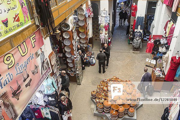 Shops  in Maristane Sidi Frej  medina  Fez. Morocco.