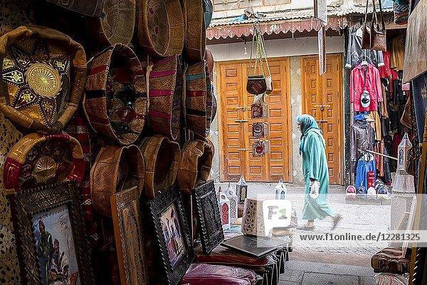 Leather souk  medina  Rabat. Morocco.