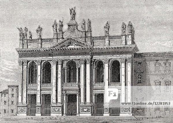 Basilica of Saint John Lateran  Rome  Italy  19th Century.