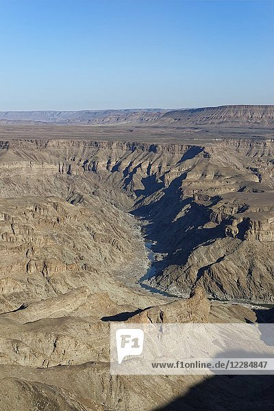 Fish River Canyon  view from the main lookout point  close to Hobas  Ai-Ais Richtersveld Transfrontier Park  Karas Region  Namibia  Africa.