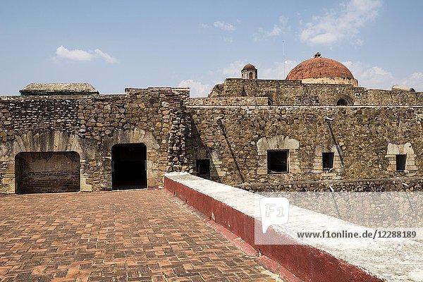 The Ex-monastery of Santiago Apostol in Cuilipan de Guerrero  Oaxaca state  Mexico.