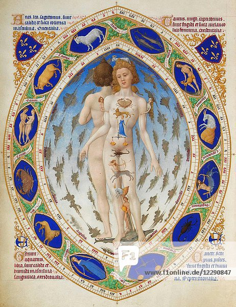 Anatomical Man from a French Prayer Book