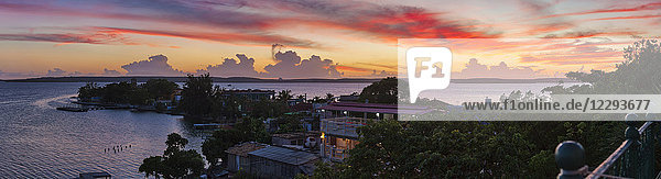 Scenic view of Cienfuegos Bay  Cuba