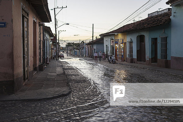 Street scene and houses at Trinidad old town  Cuba