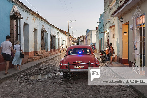 Street scene at Trinidad old town  Cuba
