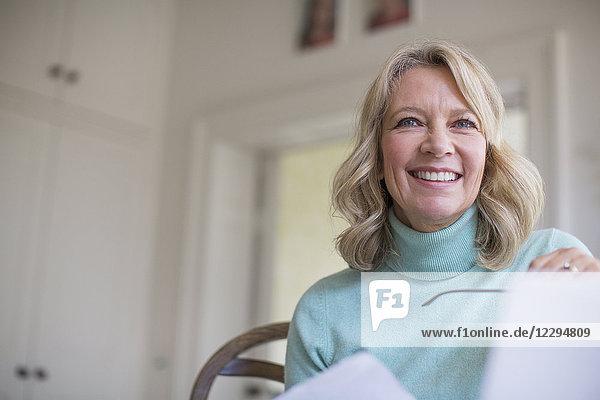 Smiling  confident mature woman