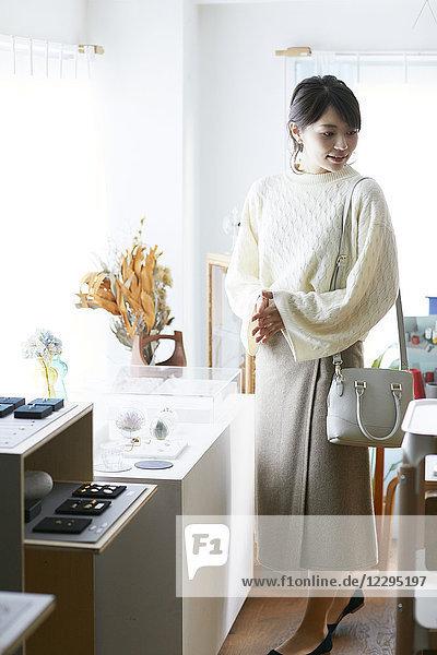 Japanese woman shopping