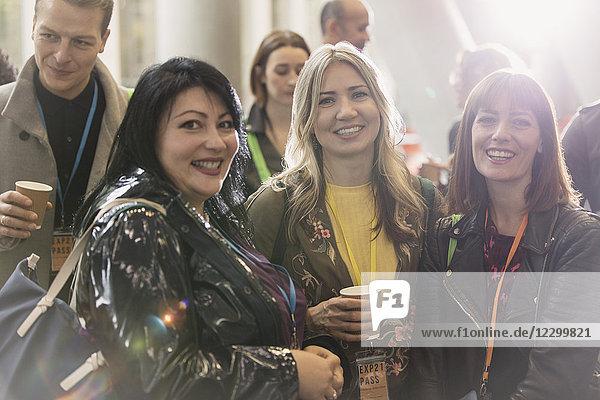 Portrait smiling  confident businesswomen at conference