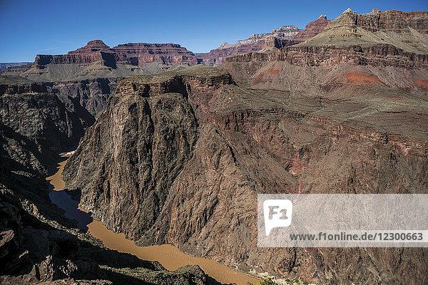 Colorado River flowing through Grand Canyon  Arizona  USA