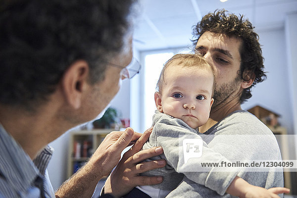 Reportage on a pediatrician who specializes in attachment theory in Lyon  France. A consultation at 9 months old.