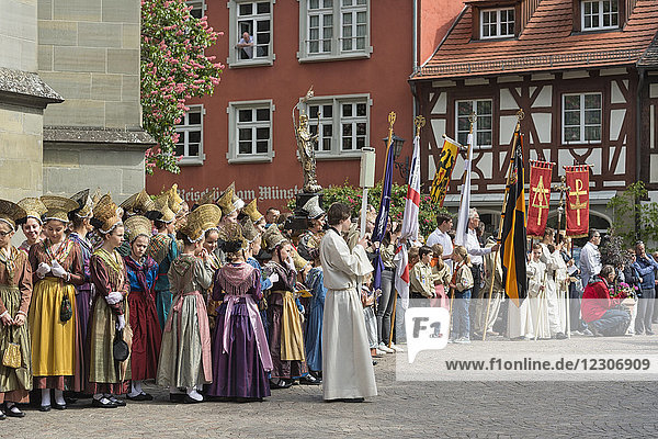 Germany  Baden-Wuerttemberg  Ueberlingen  Swedish Procession