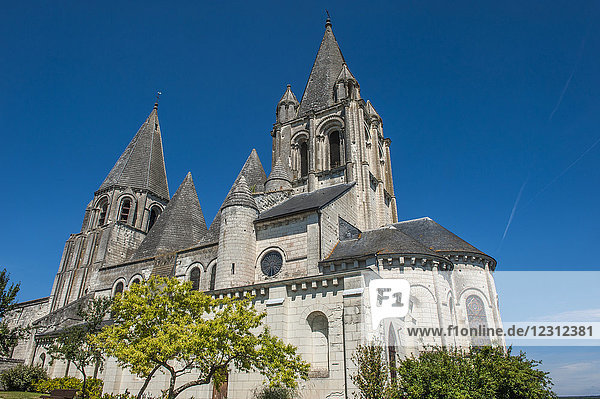 France  Indre-et-Loire  Royal City of Loches  Saint Ours church (12th century)