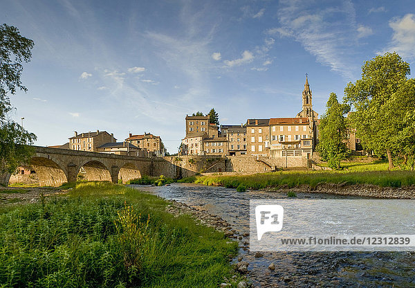 France  Auvergne-Rhones-Alpes  Haute-Loire  the Lignon river in Tence