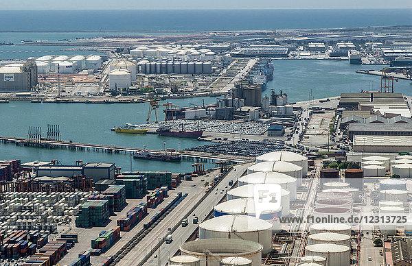 Spain  Catalonia  Barcelona  industrial port