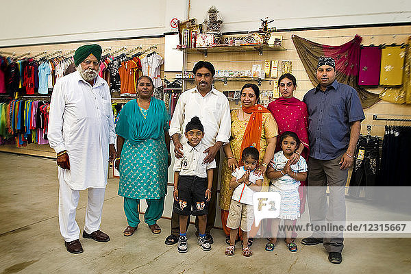 Sikh family  Sikh community  Sikhdharma Gurdwara Singh Sabha Association  Novellara  Reggio Emilia province  Italy