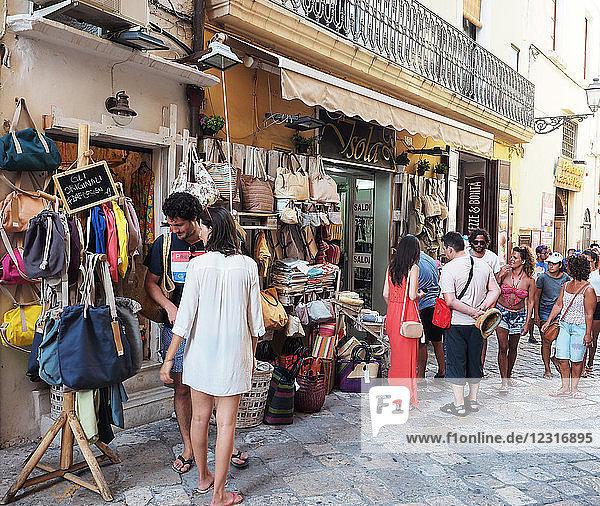 Europe   Italy   Apulia   Salento   Gallipoli   old town   typical shop