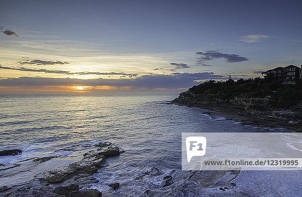 Bondi to Bronte walk at dawn  Bondi Beach  Sydney  New South Wales  Australia  Pacific
