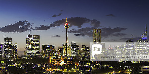 View of skyline at sunset  Sydney  New South Wales  Australia  Pacific