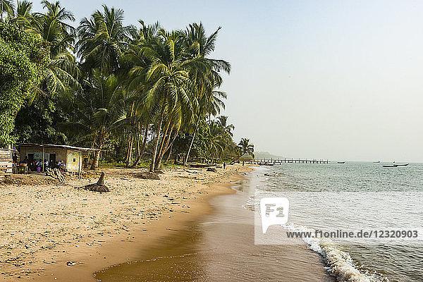Beautiful beach in Neekreen near Buchanan  Liberia  West Africa  Africa