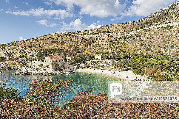 Dubovica Beach on the island Hvar  Croatia  Europe