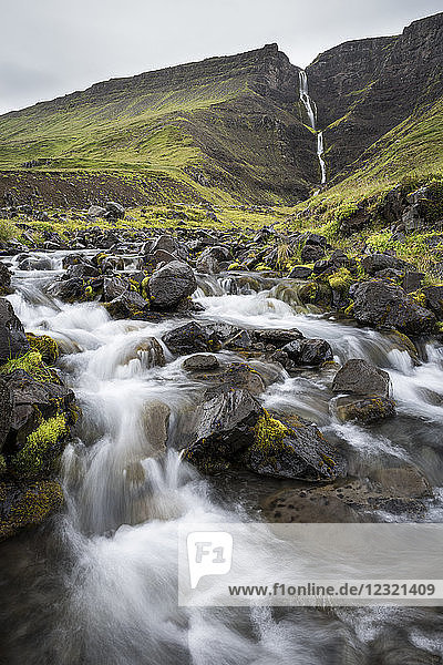 Waterfall en route to Westfjords  north west Iceland  Polar Regions