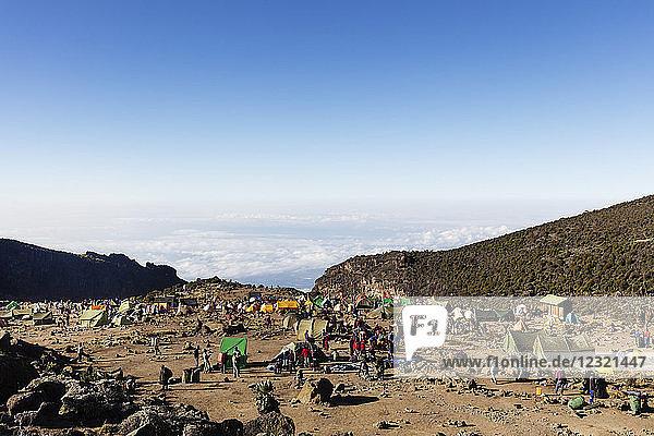 Barranco Camp  Kilimanjaro National Park  UNESCO World Heritage Site  Tanzania  East Africa  Africa