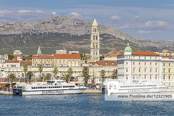 Cityscape of the old town of Split  Croatia  Europe